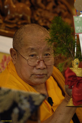 Mannie Garcia portrait of HH Penor Rinpoche